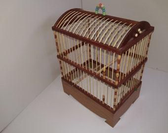Worldwide shipping Handmade Bird cage wooden bamboo