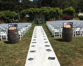 Wedding Aisle Runner with Photos
