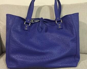 Maxi bag faux leather ostrich print