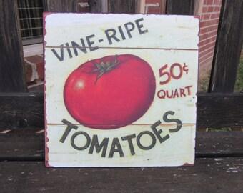 Vintage Style Tomato Sign