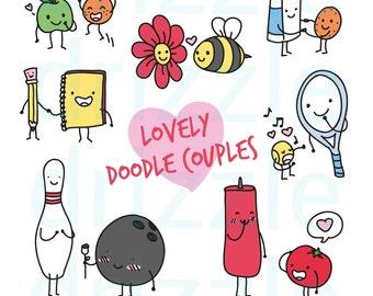 Cute couple clip art – Etsy