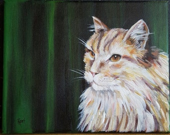 "Cat Original Art Painting ""Simba"""