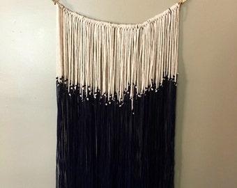 Colorblocked Yarn Wall Hanging