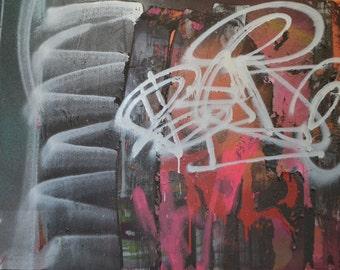 """Hot Curves """"original"""" graffiti abstract"""
