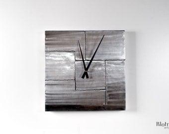 Time Blocks  - metal wall clock