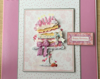 Girlie 8x8 birthday card