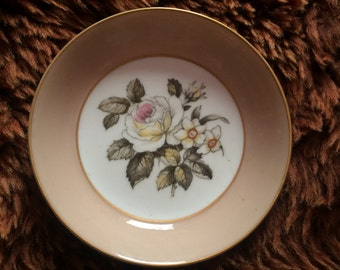 Pretty Royal Worcester Floral Pin Dish