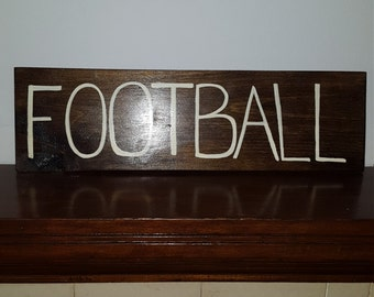 Football Sign, Custom Sign- Wood Sign- Fall Sign-painted sign-sports signs - gift for him-man cave sign-wood sign for garage-gift for friend