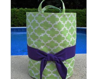 Mint/Purple Bucket Tote