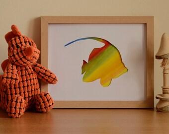Fish (Moorish idol) without frame