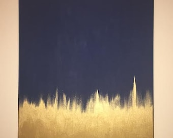 Navy and Gold Painting