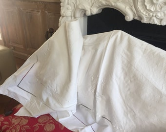 French Linen Vintage 1950s
