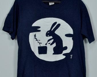 Vintage Rabbit Awesome T Shirts Full Print Zichi T Shirts Small Size