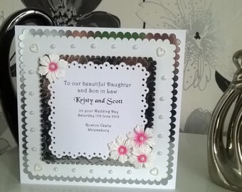Wedding Anniversary Card 8 Personalised Daughter Son Parents Blessing Civil Gay