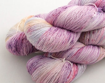 Hermes on Catwalk, lace weight handdyed yarn, indie, indiedyed, 17.5 micron merino, silk