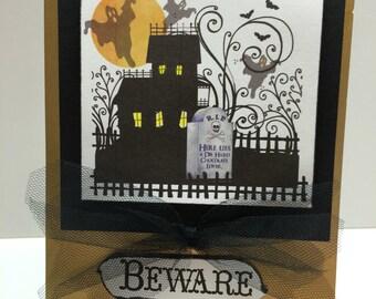 Halloween card Beware