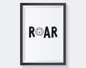 Printable - Lion Roar