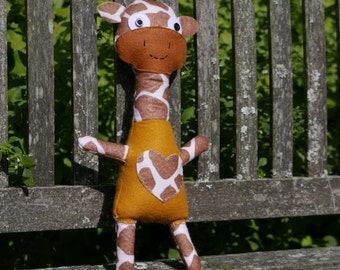 Adorable Giraffe - Handmade Scottish Felt Plush Toy