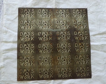 Days O Work Chewing Tobacco Mold