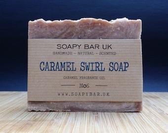 Caramel Swirl Natural Handmade Soap