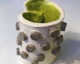 Ceramic pen/pencil cup