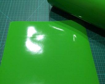 12 inches x 10 foot roll of Granny Smith Permanent Adhesive Vinyl.
