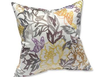 Etamine Paris Watercolor Sateen Floral Pillow Cover