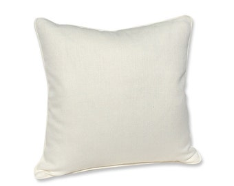 Kravet White Linen Pillow Cover