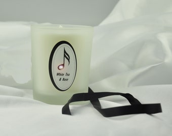 White Tea & Rose handmade Scented Candle