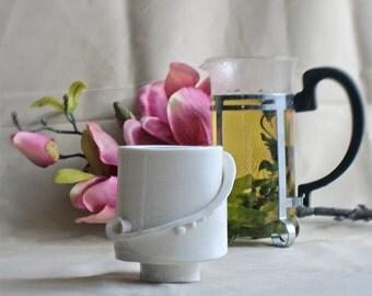 Fancy cups for juice, tea, red wine / porcelain / handmade / piece