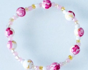 Garden pink bracelet