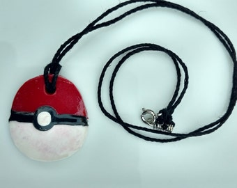 Red and White Pendant Necklace