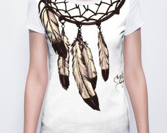 Necklace handpainted t-shirt art clothing