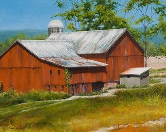 Distant Barn - Acrylic