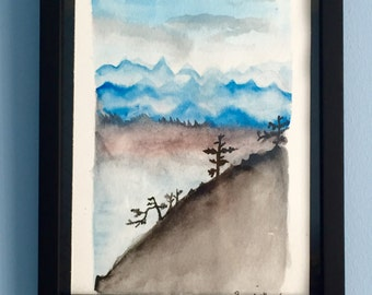 Peaceful Watercolor Painting