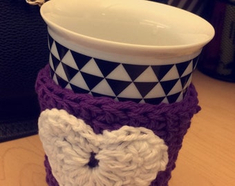 Crochet Heart Cozy