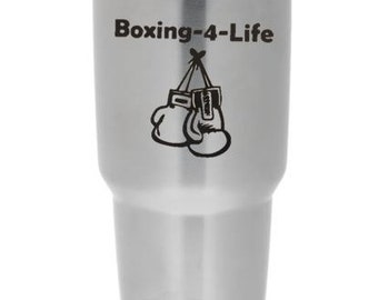 Boxing decal - boxing yet cup decal - boxing 4 life