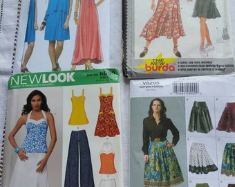 Ladies Dress, Pants and Skirt Patterns × 4  sizes range from 6 - 18
