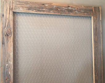 Rustic Barnwood Picture Frame