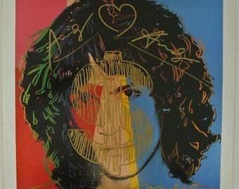 Andy Warhol (1928-1987) Fantastique Dessin original avec 3 Signatures sur album conçu par Andy Warhol COA