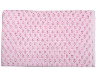 Pink Sanganeri Print Cotton Fabric