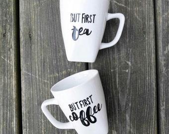 But First Coffee & Tea Mugs (Set of 2)