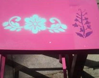distressed hand painted stool