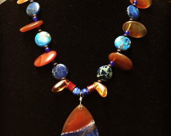 Amber Blue Necklace