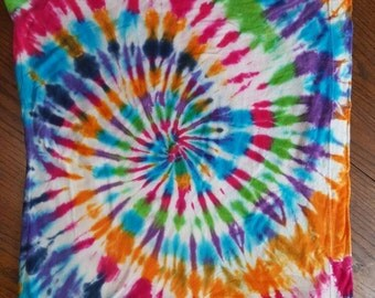 Rainbow Custom Dyed Pillow Case - Tie Dye Pilliow case - Approx 23in × 23in