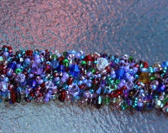 HOLIDAY SALE...Multi-colored, multi-bead and stone Magic Carpet Bracelet