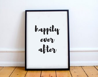 Happily Ever After Graphic Art Print
