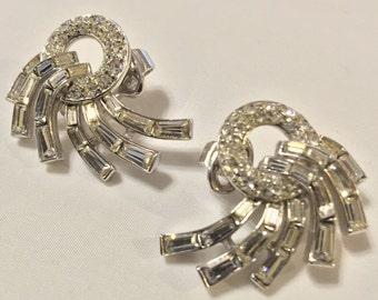 """Vintage Crown Trifari Earrings """"STUNNING"""""""