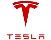 """Tesla Motors """"T"""" """"T-E-S-L-A"""" Logo Decal"""