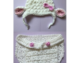 Baby Animal Hat and Diaper Cover